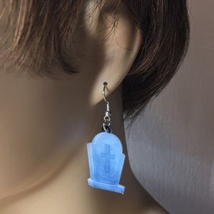 Jewelry - Tombstone Acrylic Earrings